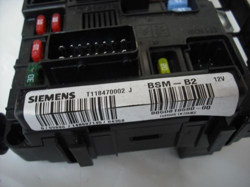 small resolution of u118470002 j peugeot 206 307 1 4 1 6 fuse box controller bsm b2 9650618580 00